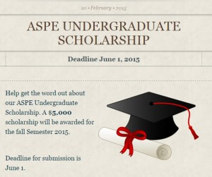 undergrad scholarship